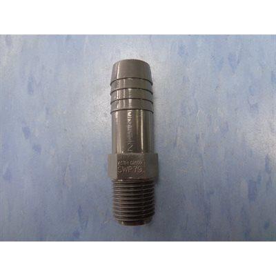 ADAPT. 1 / 2'' MALE X 3 / 4 INSERT. PVC GRIS