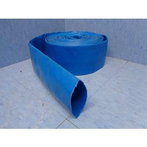 """TUYAU 1 1 / 2"""" PLAT PVC BLEU"""